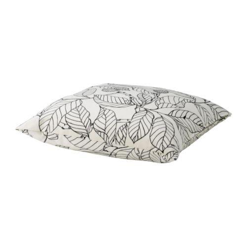 Kissenbezug Ikea ikea stockholm kissen weiß schwarz weiß blätter schwarz 55x55