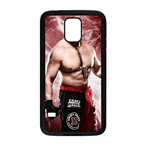 Happy WWE Brock Lesner Wrestling Fighting Black Phone Case for Samsung Galaxy S5