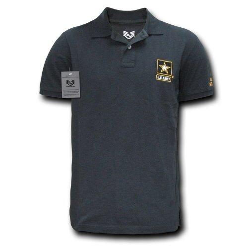 Rapiddominance Army Military Polo Shirt, Black, Medium