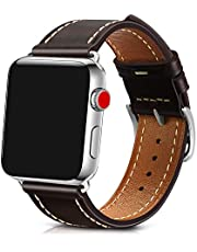 Yuele Watch Band Compatible for Apple Watch 38mm 42mm,Genuine Oil Wax Cow Leather,Fully Applicable to Apple Watch Series 3 Series 2 Series 1