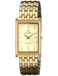 Swistar Men's 2.2203-M Gold-Plated Stainless Steel Watch with Link Bracelet