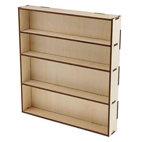 Jili Online Wooden Paint Bottle Rack Model Organizer Acrylics Paint Storage Stand Holder Box Hobby Art Supplies by Jili Online