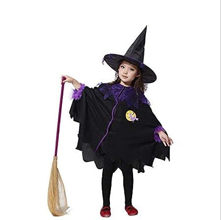 fixiyue Halloween Niños Cosplay Bruja Traje Vestido EDG Mago ...