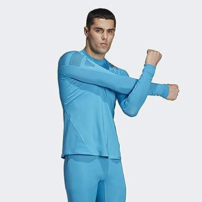 adidas Alphaskin Badge of Sport Tee Men's: Sports & Outdoors