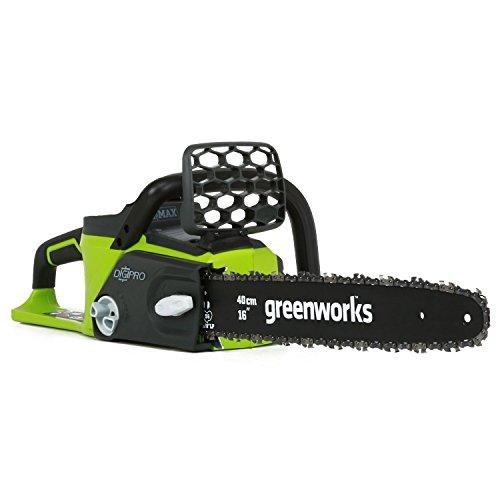 Greenworks Tools 40V Akku-Kettensäge mit bürstenlosem Motor, 40 cm Schwertlänge ohne Akku und Lader, 20077