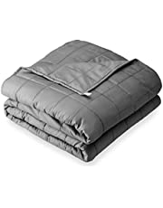"""Bare Home Weighted Blanket for Kids 10lb (40"""" x 60"""") - All-Natural 100% Cotton – Premium Heavy Blanket Nontoxic Glass Beads (Grey, 40""""x60"""")"""