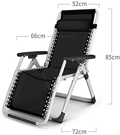 AA-SS Adjustable folding chair bedroom folding chair suitable for veranda garden deck lawn camping portable chair 66 * 72 * 85cm
