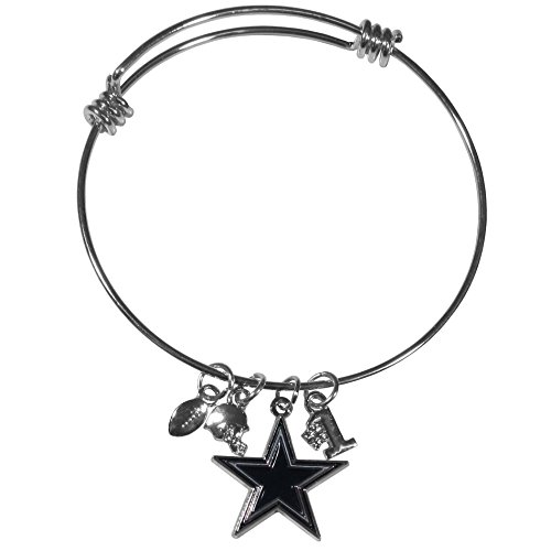 Siskiyou NFL Dallas Cowboys Charm Bangle Bracelet -