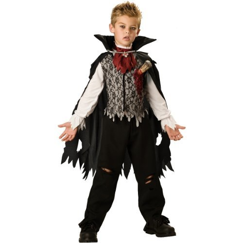 InCharacter Costumes, LLC Boys 8-20 Vampire B. Slayed Cape Set, Black/White, 10 by InCharacter (Vampire B Slayed Boys Costume)