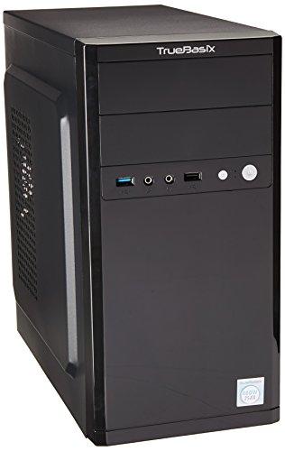 True Basix TB-05001 Gabinete para Computadora, ATX, Micro-ATX, Mini-ITX, Color Negro