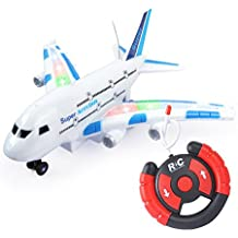 Ocamo Mini RC Plane Airplane A380 Smart Electric Airbus with Flashing Lights None