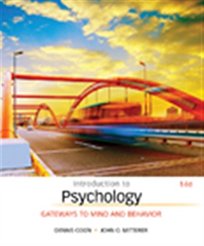 Introduction to Psychology Gateways to Mind and Behavior MindTap Course List