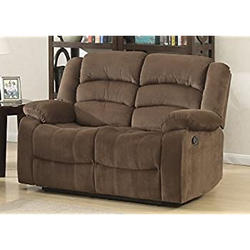 modern reclining loveseat. AC Pacific Bill Collection Modern Fabric Upholstered Living Room Reclining Loveseat With Padded Pillow Top Armrests A