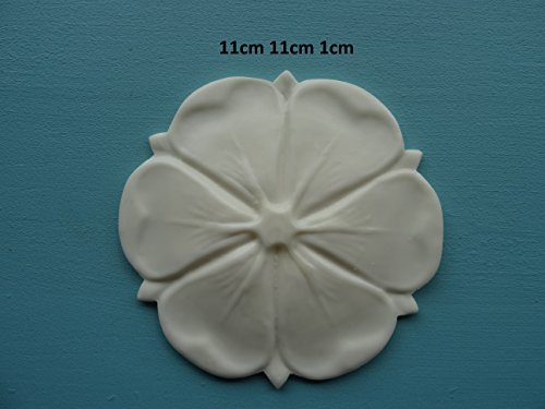 TRL Decorative large tudor rose applique onlay furniture moulding ()