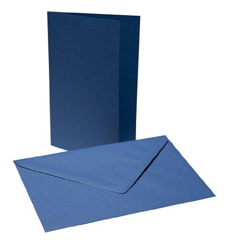 Faltkarten mit Umschlägen B6 - Royal Blau
