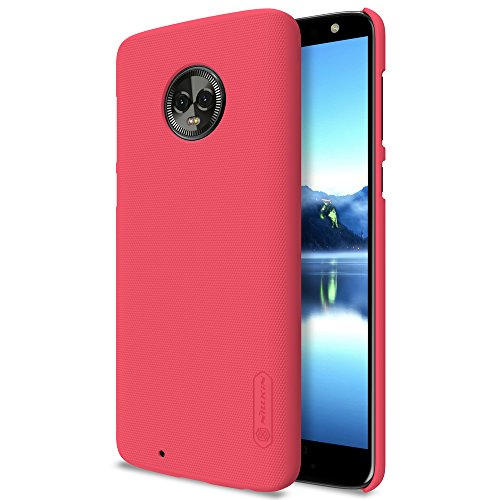 NAVT Calidad cáscara de la Funda case cover protectora de alta dura para Motorola MOTO G6 smartphone +1* Protector de pantalla (dorado) rojo