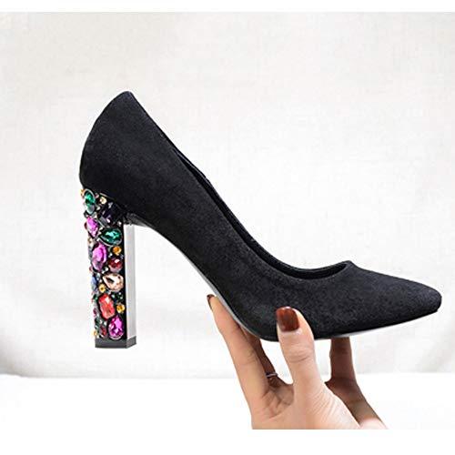 De Mariage nbsp;talon Toe Hauts Chaussures Femmes 39 Talons Pointu Cristal Uengf Coloré Escarpins Robe Haut Chunky Sw4cPvqp