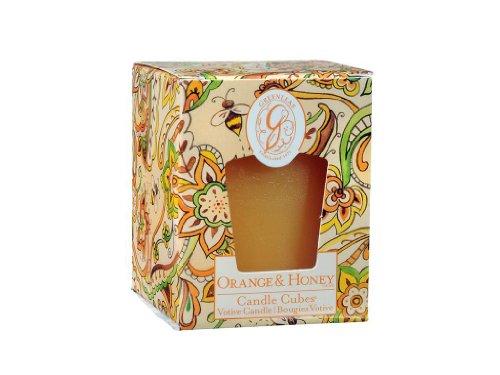 - GREENLEAF Candle Cube Votive Orange & Honey