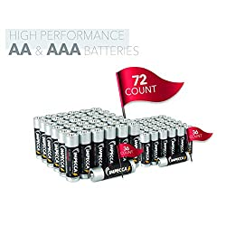 IMPECCA AA and AAA Batteries Combo (72-Count) High Performance All Purpose Alkaline Batteries, 1.5 Volt LR3/LR6, 36-AA + 36-AAA = 72 Pack