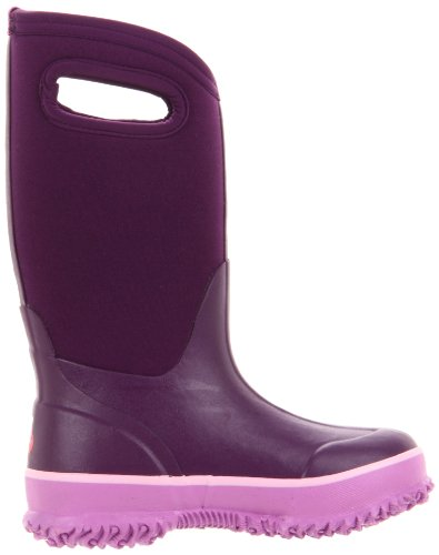 Bogs Kids Classic Bota De Lluvia De Neopreno De Goma Con Aislamiento Térmico Resistente Al Agua Suela Púrpura / Rosa Sólida