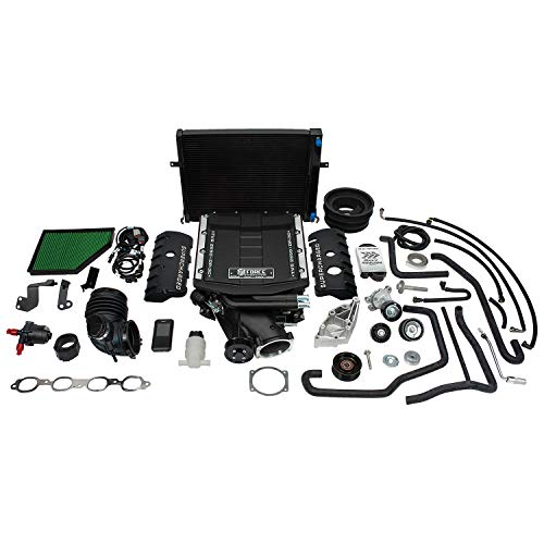 Edelbrock 15595 E-Force Stage-1 Street Systems Supercharger 2650 TVS Incl. Supercharger/Manifold/Drive Pulleys/Belt/Intercooler/Hardware w/Tuner E-Force Stage-1 Street Systems Supercharger