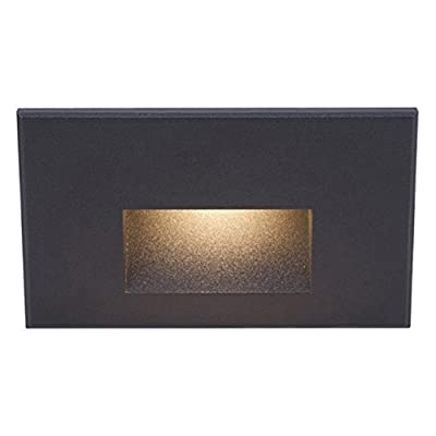 WAC Lighting WL-LED100-C-BK LED 3.9W 120V Step and Wall Light with Black Finish and Clear lens