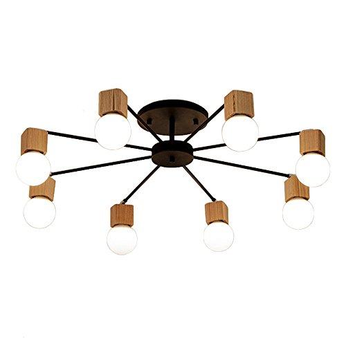 Aero Snail 8 Heads Modern Northern Europe Metal Wood Art Deco Ceiling Flush Mount Light