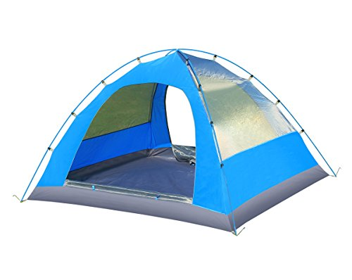 Techcell 3-4 Persons Double layer Waterproof Camping Tent Backpacking Hiking New