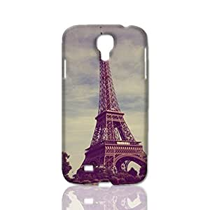 3D Rough Case, Eiffel Tower in spring bloom - Samsung Galaxy S4 i9500 Case, Customized Hard Unique back Cover Case for Samsung Galaxy S4 i9500 Case
