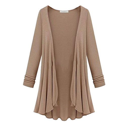 Goddessvan Plus Size Cardigan, Women Loose Long Sleeve Open Front Cardigan Sweater Coat