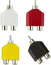 gazechimp RCA Y Splitter AV Audio Video Plug Converter