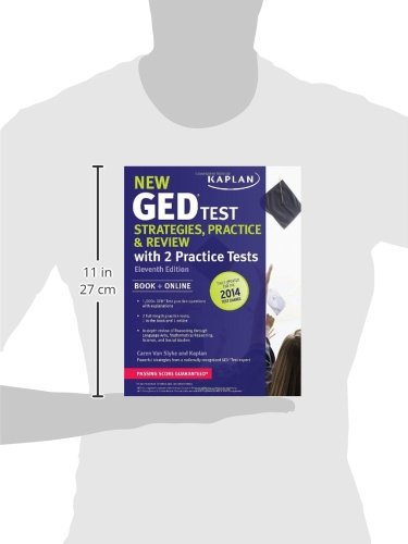 "New GED® Test Strategies, Practice, and Review with 2 Practice Tests: Book + Online â€"" Fully Updated for the 2014 GED (Kaplan Test Prep)"