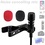 YouMic Lavalier Microphone for iPhone Android - Phone Microphone - Lav Mic for iPhone 7, 8, X - iPhone External Microphone - Microphone for iPhone 8, 7, 6, X - iPad Lav Lapel Microphone
