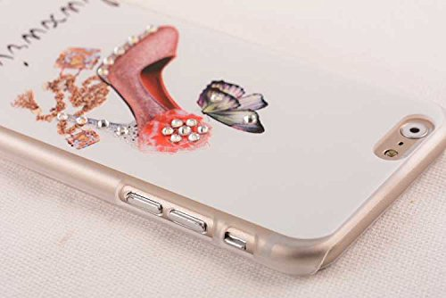 Iphone 6 Plus Case,iphone 6 Plus Ultra Thin Case,Nancy's Shop Unique **New** Fashion Colorful Painting Luxury Bling Hard Phone Accessories [Ultra Slim] Case and Covers for Apple Iphone 6 Plus 5.5 Inch + Gift Screen Protector By Free (The Pink High-heeled Shoes)