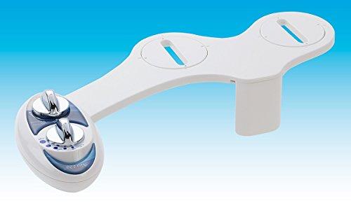 Luxe Bidet Neo 120 - Boquilla autolimpiante - Accesorio para inodoro bidé mecánico no eléctrico de agua dulce (azul y blanco)