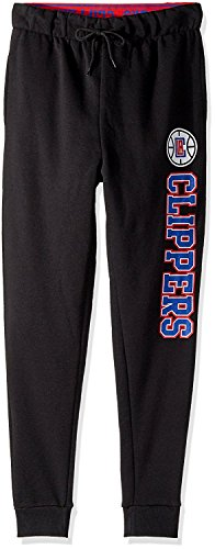 NBA Los Angeles Clippers Women's Jogger Pants Active Basic Fleece Sweatpants, Medium, Black -