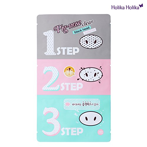[Holika Holika] Свинья Нос Ясно черная голова 3-Step Kit х 10 Set