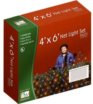 Holiday Wonderland 48951-88 150 Count Multi Net / Shrub Style Light Set - Quantity 10 by Holiday Wonderland