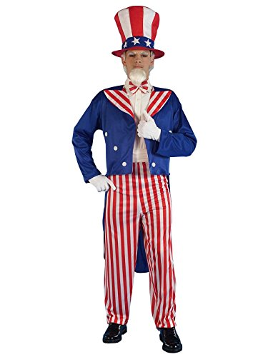Forum Novelties Men's Patriotic Party Uncle Sam Costume, Multi, Small (Halloween Costumes With Red Pants)
