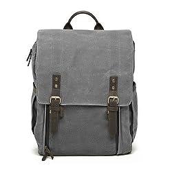 Ona - The Camps Bay - Camera Backpack - Smoke Waxed Canvas (Ona5-008gr)