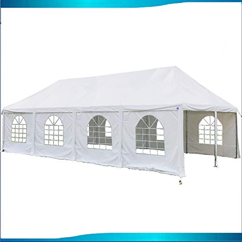 DELTA Canopies 40'x20′ PVC Frame Tent White – Wedding Party Canopy Shelter