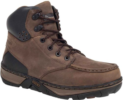 Rocky Mens 6 Forge Waterproof Work Boots Brown vxZGBlf5