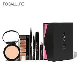 Gift!Elevin(TM)Women Ladies Fashion FOCALLURE Makeup Set Eye Shadow Mascara Lipstick Beautiful Simple Foundation Makeup,Valentine's Day Gifts (B)