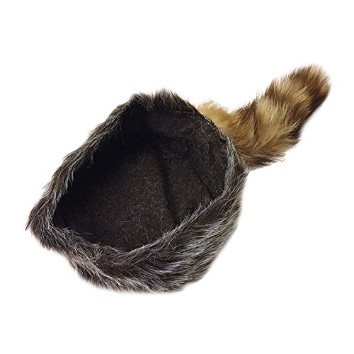 c42274c5b08 Nekid Cow USA Authentic Davy Crockett Daniel Boone Real Tail Cap Hat Large   Amazon.in  Clothing   Accessories