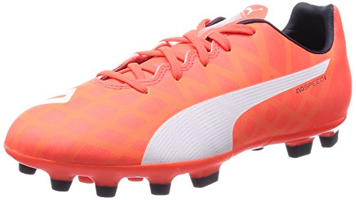 Puma Evospeed 5.4 AG Unisex-Kinder Fußballschuhe Orange (lava blast-white-total eclipse 01)