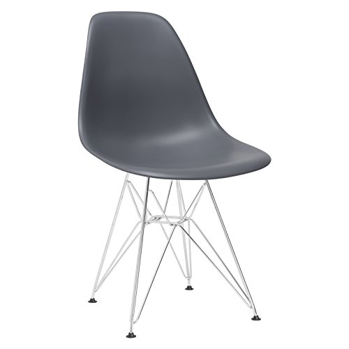 Poly and Bark Padget Side Chair in Grey Eames Plastic Side Chair