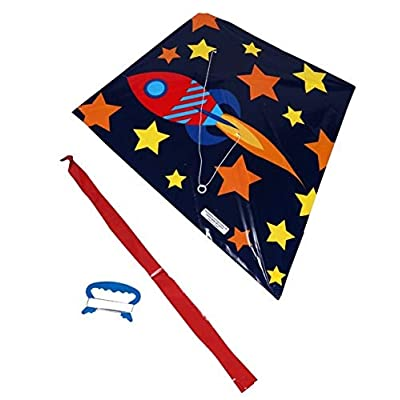 Kite Fun to Fly 22 in Poly Diamond Rocket: Toys & Games