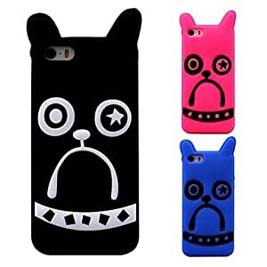 HP DF3D Cartoon Dog Pattern Silicon Rubber Case for iPhone 5/5s(Assorted Colors)