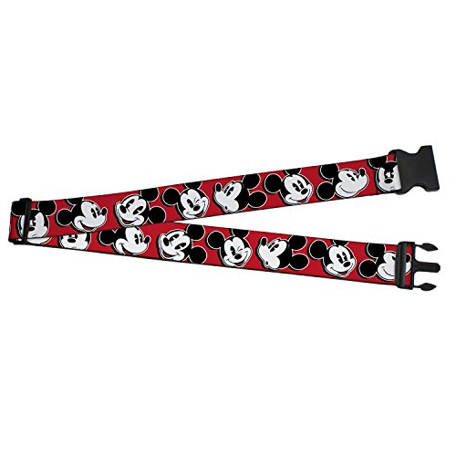 Buckle Down Mickey Mouse Expressions Luggage Strap, Red