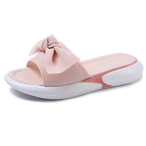 Sauvage et Sauvages de Pantoufles Portent de Chaussures des Couleur 38 EU Occasionnels Rose Rose Taille Plage Printemps de Plat Yiwuhu d'été Mot d'été AIaYwIq8